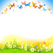 Background with butterflies — Stock Vector