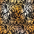 Abstract tiger skin — Stock Vector