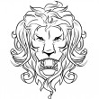 Stock Vector: Lion head
