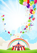 Circus festive background — Stock Vector