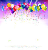Festive background with balloons — Stock Vector