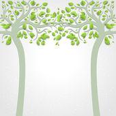 Abstracte bomen — Stockvector