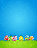 Easter egg and blue sky — Stock Vector