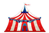 Circus marquee tent — Stock Vector