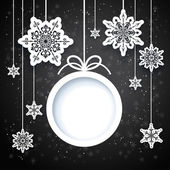 Black and white winter design — Stock Vector