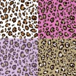 Leopard skin seamless pattern — Stock Vector