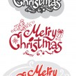 Merry Christmas set — Stock Vector