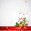 Christmas background with decoration — Stock Vector