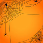 Cobweb with spiders — Stock Vector