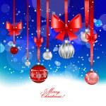 Christmas festive background — Stock Vector