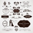 Vector design elements and calligraphic page decorations for wed — Vector de stock  #30754607