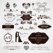Vector design elements and calligraphic page decorations for wed — Stock vektor