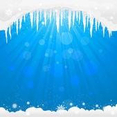 Winter background with icicles — Stock Vector