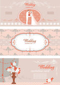 Wedding banners set — Stock Vector