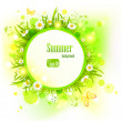 Stock vektor: Summer light background with daisies