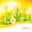 Sunny bright background  — Stock Vector