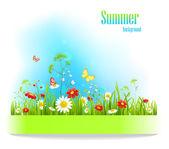 Fond floral positif de l'été — Vecteur