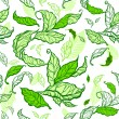 Green leaves seamless — Stock Vector