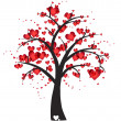 Decorative tree with hearts — Stock vektor