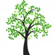 Vector de stock : Decorative tree