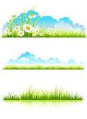 Сбор зеленой травы — Cтоковый вектор