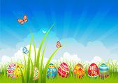 Easter festive background — Stock Vector