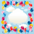 balloons background — Stock Vector