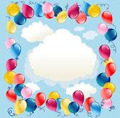 Balloons background — Stock Vector