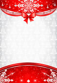 Red and silver christmas background — Stock Vector