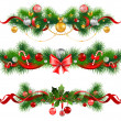 Christmas decoration with spruce tree — Stock Vector #33113131