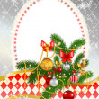 Beautiful decorated Christmas tree — Stock Vector
