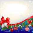 Blue сhristmas background — Stock Vector