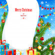Vector de stock : Bright christmas background