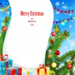 Bright christmas background — Imagen vectorial