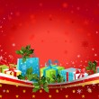 Stock Vector: Christmas background with gifts