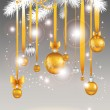 Stock Vector: Christmas light background.