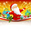 Festive background with Santa Claus — Stock Vector #33458063