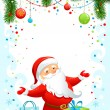 Stock Vector: Holiday background with Santa Claus