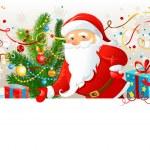 Santa Claus with blank board — Stock Vector #33458219