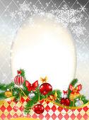 Beautiful decorated Christmas background — ストックベクタ