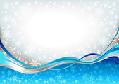 Blue waves snow background — Stock Vector