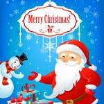 Santa Claus and Snowman — Stock Vector #33537927