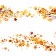 Autumn leaves border — Stock Vector #33537801