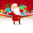 Festive background with Santa Claus — Stock Vector