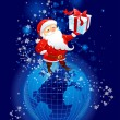 Santa Claus on the planet Earth — Stock Vector #33537917