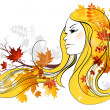 Stock Vector: Autumn beauty
