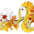 Autumn beauty — Stock Vector