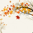 Vector de stock : Autumn tree