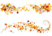 Autumn leaves border — Stock Vector