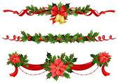 Decoración festiva de la navidad — Vector de stock